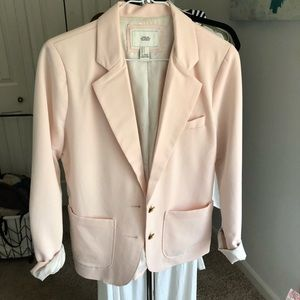 F21 Blush Blazer with gold buttons small